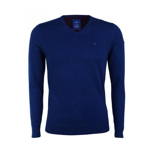 Tom Tailor Herren Pullover Basic V-Neck Sweater in Mysterious Blue Melange in den Größen S-XXL für je nur 18,85 Euro inkl. Versand