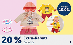 20% Rabatt auf Baby Born und Baby Annabell im myToys Onlineshop
