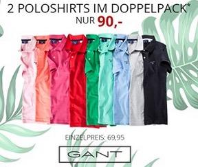 Doppelpack Gant Modische Pique-Poloshirts ab 80,- Euro inkl. Versand