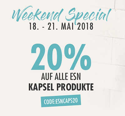 Fitmart Weekend Special: 20% Rabatt auf alle ESN Kapsel Produkte