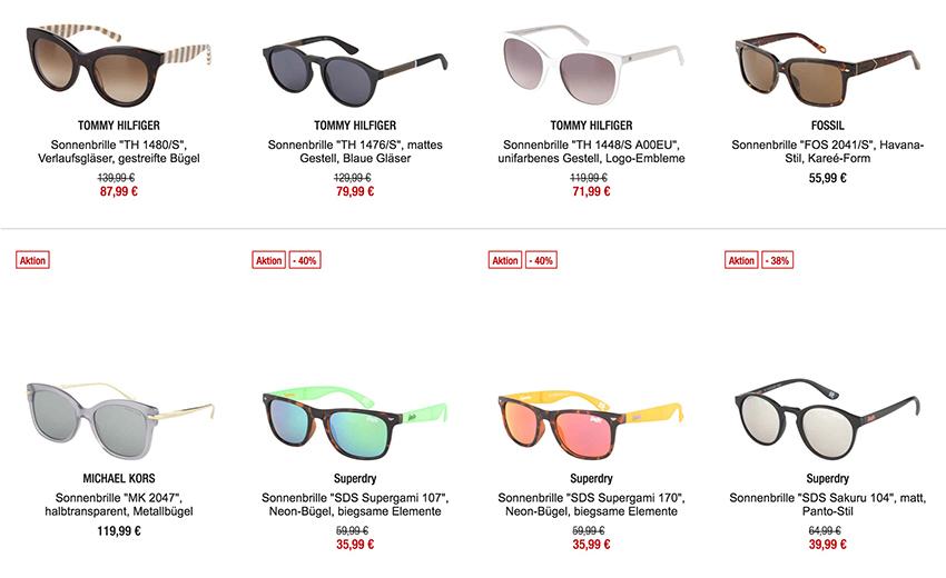 20% Rabatt auf bereits reduzierte Sonnenbrillen bei Galeria