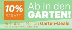 """10% """"Ab in den Garten""""- Rabattgutschein bei Rakuten!"""