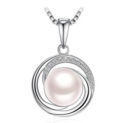 J.Rosée Damen Halskette aus 925er Silber mit Süßwasserzuchtperle für nur 8,87 Euro
