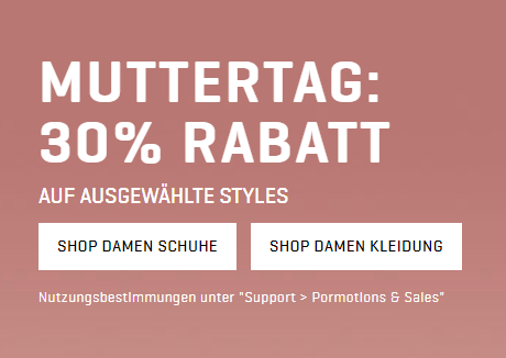 Zum Muttertag 30% Rabatt auf Mode und Schuhe für Damen im Puma Onlineshop