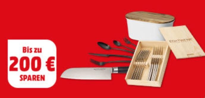 Verschiedene Messer- und Besteck-Sets von ECHTWERK zu stark reduzierten Preisen bei MediaMarkt