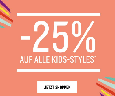 25% Extrarabatt auf alle Kinder-Styles im Tom Tailor Onlineshop