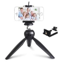Mini Tripod Stativ mit Adapter für Smartphones und Actioncams nur 2,12 Euro