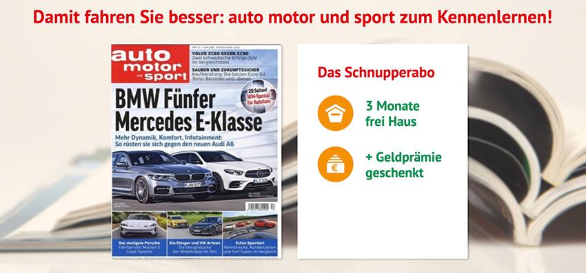 3 Monate (7 Ausgaben) auto motor und sport für 31,85 Euro – als ...