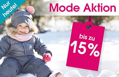 Nur heute: Bis zu 15% Rabatt auf Mode im Babymarkt Onlineshop