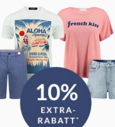 10% Rabatt auf Sommer Looks (Shorts & Shirts) im Engelhorn Onlineshop