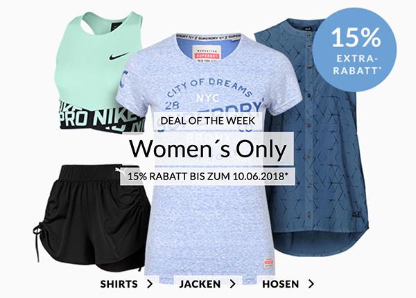 Engelhorn Weekly Deal: 15% Rabatt auf das Women's Only Sortiment