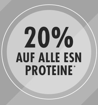 Fitmart Weekend Special: 20% Rabatt auf alle ESN Proteine