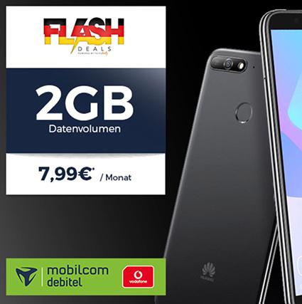MD Vodafone comfort Allnet mit 2GB Daten mtl. 7,99 Euro + Huawei Y6 (2018) für einmalig 4,95 Euro