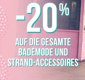 20% Rabatt auf das gesamte Bademode Sortiment bei Hunkemöller
