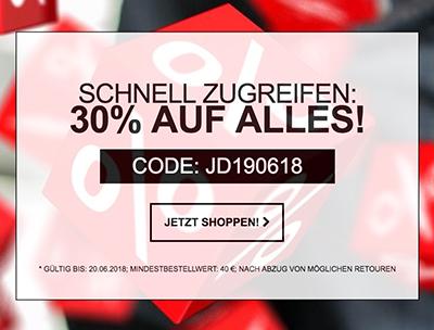 30% Rabatt auf das gesamte Sortiment bei Jeans-Direct ab 40,- Euro Bestellwert