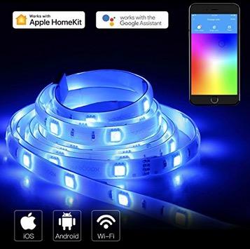 Koogeek Wifi Smart-LED Strip 2 Meter Dimmbar mit 16 Millionen Farben und IP65 (Alexa , Google, Apple HomeKit) nur 20,99 Euro