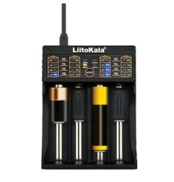 Pricedrop! LiitoKala Lii-402 Ladegerät mit 4 Ladeschächten für Li-Ion Akkus für nur 5,84 Euro