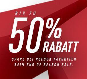 Reebok Sale mit bis zu 50% Rabatt + 25% Extra-Rabatt auf Training