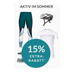 Engelhorn Sports Weekly Deal mit 15% Rabatt auf sportliche Sommermode