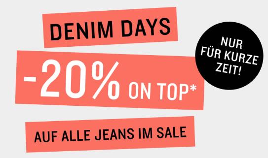 20% Sofortrabatt auf reduzierte Jeans im Tom Tailor Onlinestore