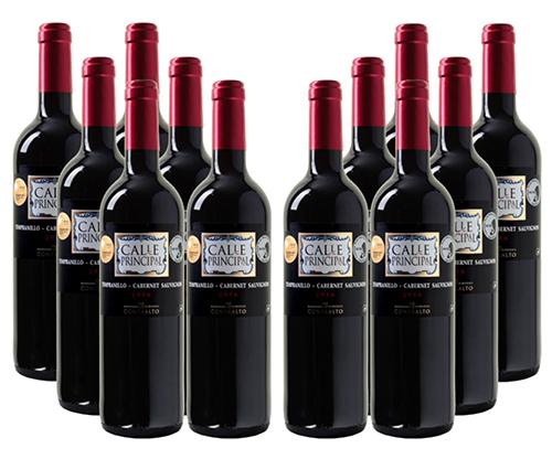 12 Flaschen Calle Principal Tempranillo Cabernet Sauvignon für 39,99 Euro