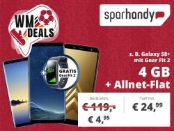 Samsung Galaxy S8+ und Samsung Gear Fit 2 mit otelo Comfort Tarif für 24,99 Euro mtl. + einmalig 4,95 Euro