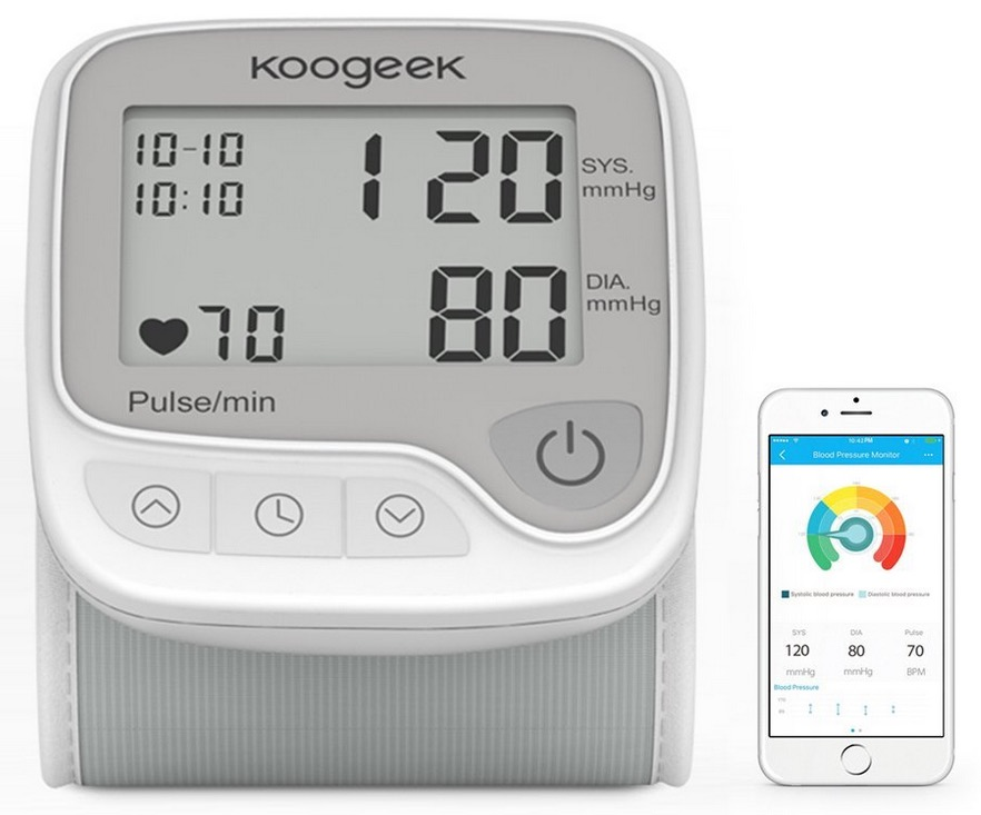 Nur 60x einlösbar! Koogeek Smart & Bluetooth Handgelenk-Blutdruckmessgerät für nur 13,95 Euro