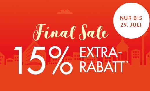 Knaller! Final Sale bei Engelhorn mit bis zu 70% Rabatt + dazu 15% Extra-Rabatt auf reduzierte Artikel