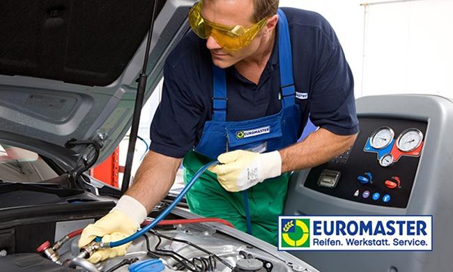 Klimaanlagen-Wartung inkl. Kältemittel bei EUROMASTER für nur 49,90 Euro (inkl. Desinfektion für 79,90 Euro)