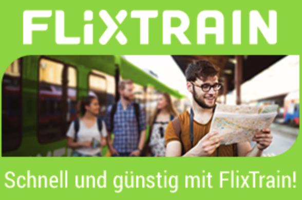 FlixTrain – Im August reisen und 50% Rabatt auf die nächste Fahrt im Herbst erhalten