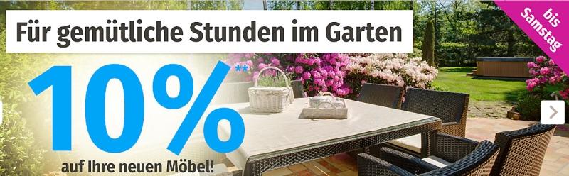 2 Tage Lang 10 Rabatt Auf Die Kategorie Möbel Bei Gartenxxl Snipzde