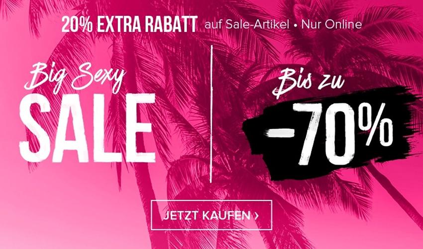 Hunkemöller: Big Sexy Sale mit bis zu 70% Rabatt + 20% Extra-Rabatt auf alle reduzierten Artikel