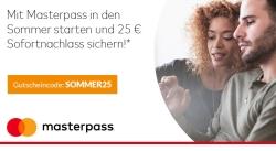Bei Alternate mit Masterpass bezahlen und ab 100,- Euro Bestellwert 25,- Euro sparen