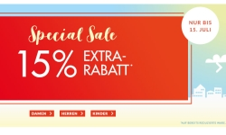 Engelhorn Sports Special Sale mit 15% Rabatt auf bereits reduzierte Sportmode