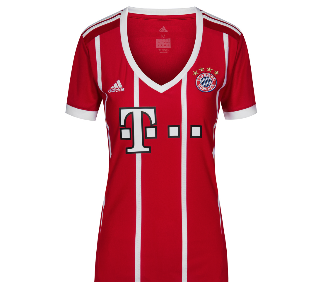 FC Bayern München Damen Heim Trikot von Adidas von XS bis XL nur 16,94 Euro inkl. Versand