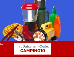 10% Rabattgutschen auf Alles rund um Camping & Outdoor bei Rakuten