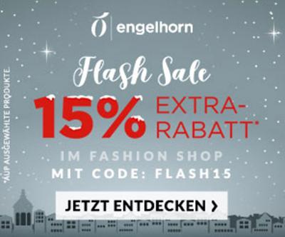 Engelhorn Fashion Flashsale mit 15% Extra-Rabatt auf Sale-Artikel