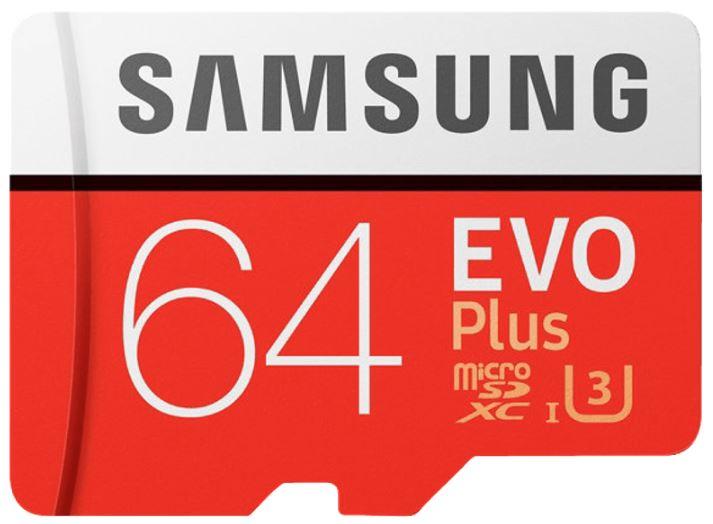SAMSUNG Evo Plus Micro-SDXC Speicherkarte (64 GB, 100 MB/s) für nur 9,75 Euro inkl. Versand