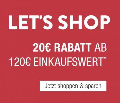 Galeria Kaufhof: 20, Euro Gutscheincode auf nicht