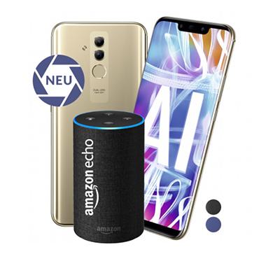 Blau Allnet XL mit 5GB Datenvolumen für mtl. 19,99 Euro + Huawei Mate 20 Lite & Amazon Echo für nur einmalig 4,95 Euro