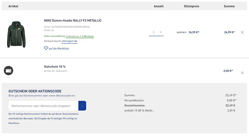 8ac8ea066daa Knaller! Nike Damen Hoodie Rally FZ Metallic für nur 22,49 Euro inkl ...