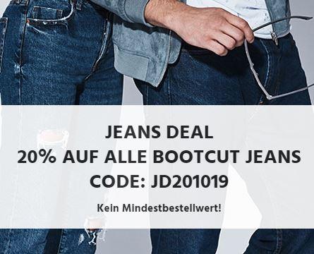 20% Rabatt auf alle Bootcut Jeans bei Jeans-Direct