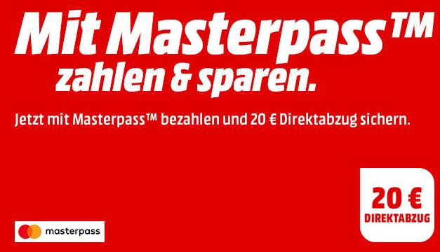 Bis zu 15,- Euro Rabatt auf viele ausgewählte MediaMarkt Artikel bei Zahlung per Masterpass