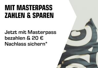 20,- Rabatt auf das gesamte Saturn Sortiment ab 100,- Euro Mindestbestellwert mit Zahlung per Masterpass