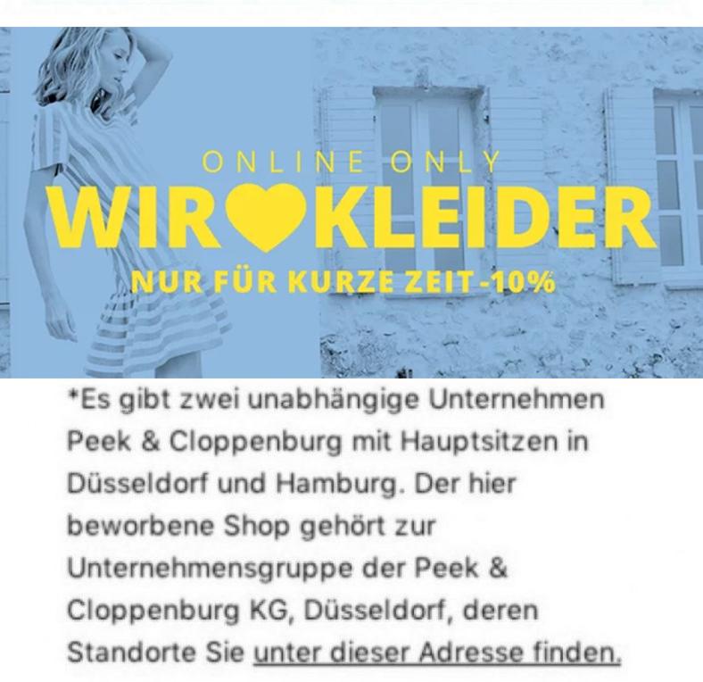 01a77407cd7faa 10% auf alle Kleider bei Peek   Cloppenburg  - Snipz.de