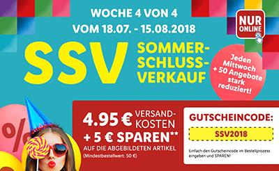 Sommerschlussverkauf bei LIDL + 5,- Euro Rabatt & versandkostenfrei Lieferung ab 50,- Euro Bestellwert