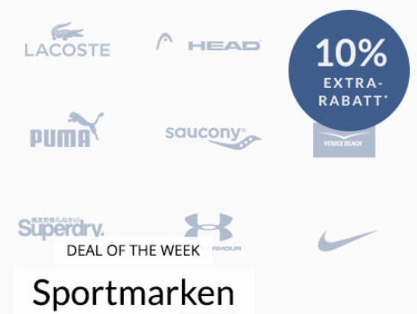 Engelhorn Sport-Markenwoche mit 10% Extra-Rabatt z.B. auf Adidas, Superdry oder Lacoste