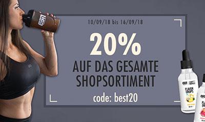 20% Rabatt auf Alles bei Fitmart.de