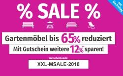 Bis Freitag: Gartenmöbel Sale bei GartenXXL + 12% Gutscheincode