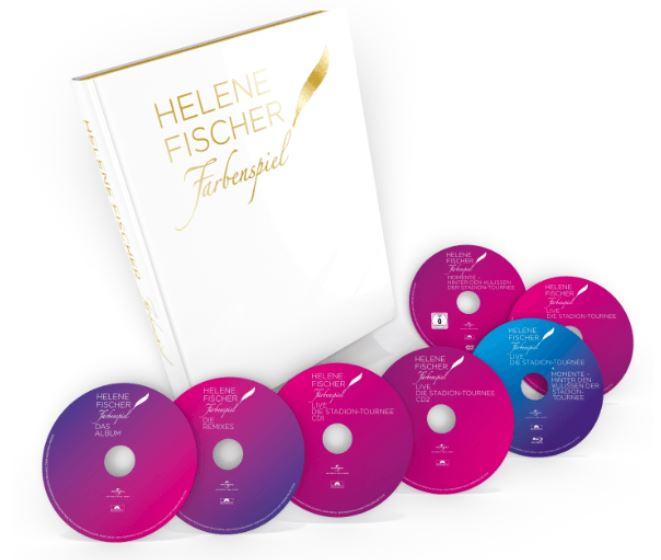 Helene Fischer – Farbenspiel Limited Bildband Edition (4CDs+2DVDs+Blu-ray) für nur 19,- Euro